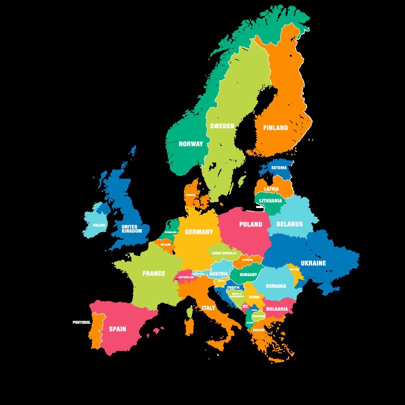 Mapa-Europa APPDI  A Carta da Diversidade na Europa Mapa Europa APPDI