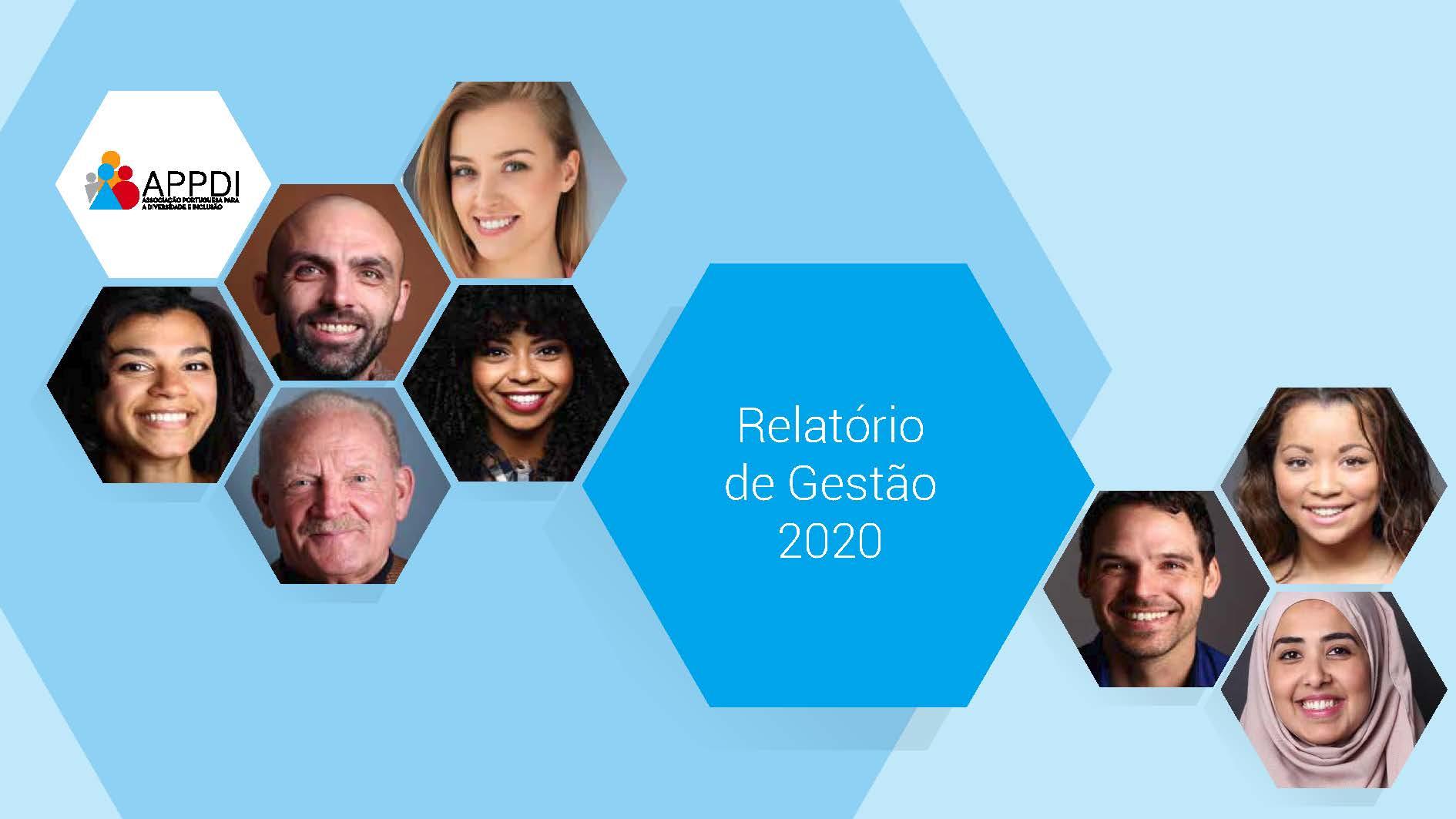 Capa Relatório de Gestão 2020  Relatórios de Gestão relatorio gestao appdi 2020