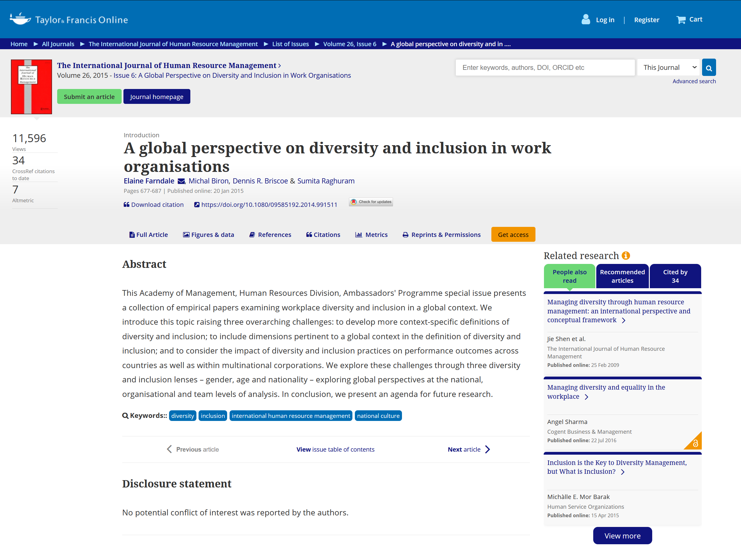 a global perspective on diversity and inclusion in work organisations A global perspective on diversity and inclusion in work organisations A global perspective on diversity and inclusion in work organisations capa