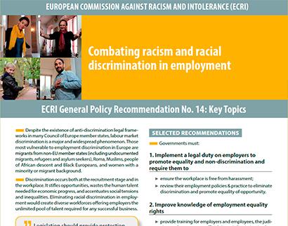 ecri - combating racism and racial discrimination in employment ECRI – Combating racism and racial discrimination in employment ECRI Combating racism and racial discrimination in employment 1