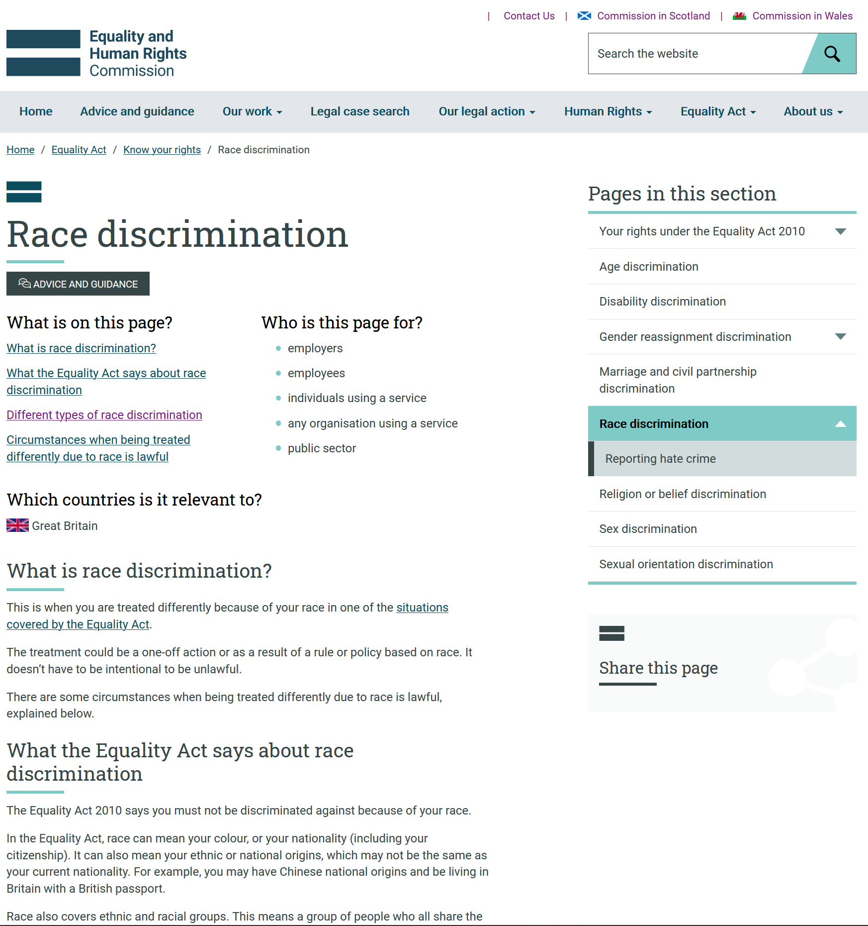 equality and human rights commission - race discrimination Equality and Human Rights Commission – Race discrimination Equality and Human Rights Commission Race discrimination capa 1