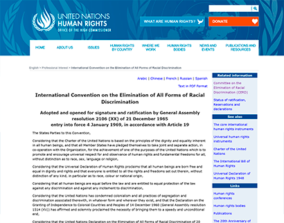 ohchr - ratification of the convention on the elimination of all forms of racial discrimination OHCHR – Ratification of the Convention on the Elimination of All Forms of Racial Discrimination OHCHR International Convention on the Elimination of All Forms of Racism 1  Plataforma do Conhecimento – teste OHCHR International Convention on the Elimination of All Forms of Racism 1