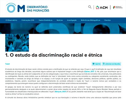 om - o estudo da discriminação racial e etnica OM – O estudo da discriminação racial e étnica OM O estudo da discriminacao racial e etnica 1