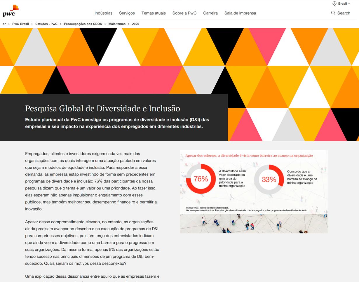 pesquisa global de diversidade e inclusão (estudo pwc) Pesquisa Global de Diversidade e Inclusão (Estudo PwC) Pesquisa Global de Diversidade e Inclusao Estudo PwC