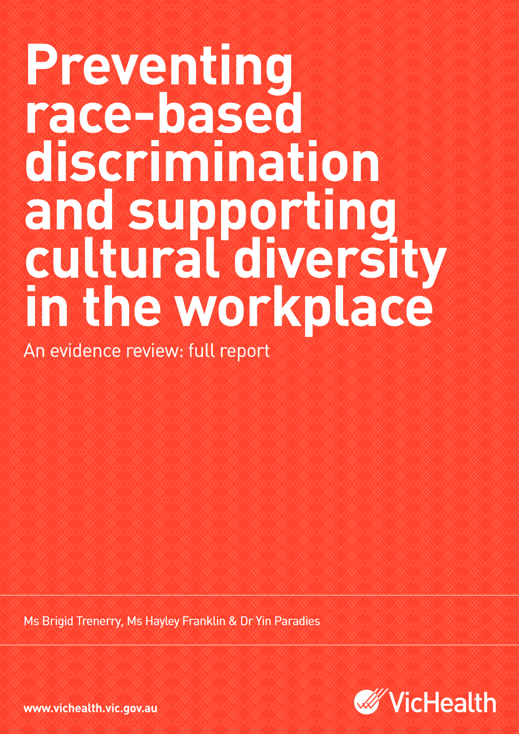 preventing race-based discrimination and supporting cultural diversity in the workplace Preventing race-based discrimination and supporting cultural diversity in the workplace Preventing race based discrimination and supporting cultural diversity capa